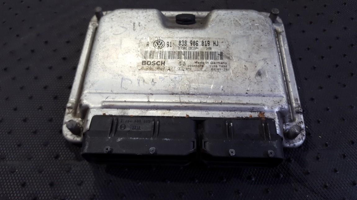 Variklio kompiuteris 038906019HJ 0281010977 Volkswagen GOLF 1999 1.9