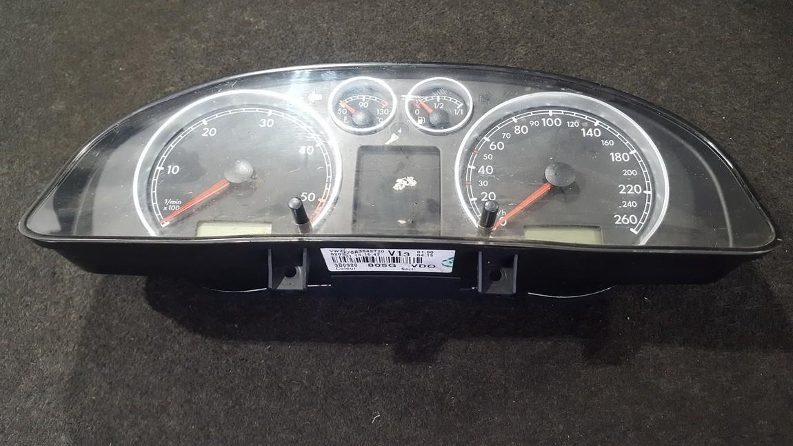 Spidometras - prietaisu skydelis 110080051006 3B0920805G Volkswagen PASSAT 2002 1.9