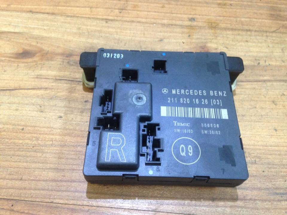 Door control relay Mercedes-Benz E-CLASS 2003    2.0 2118201626