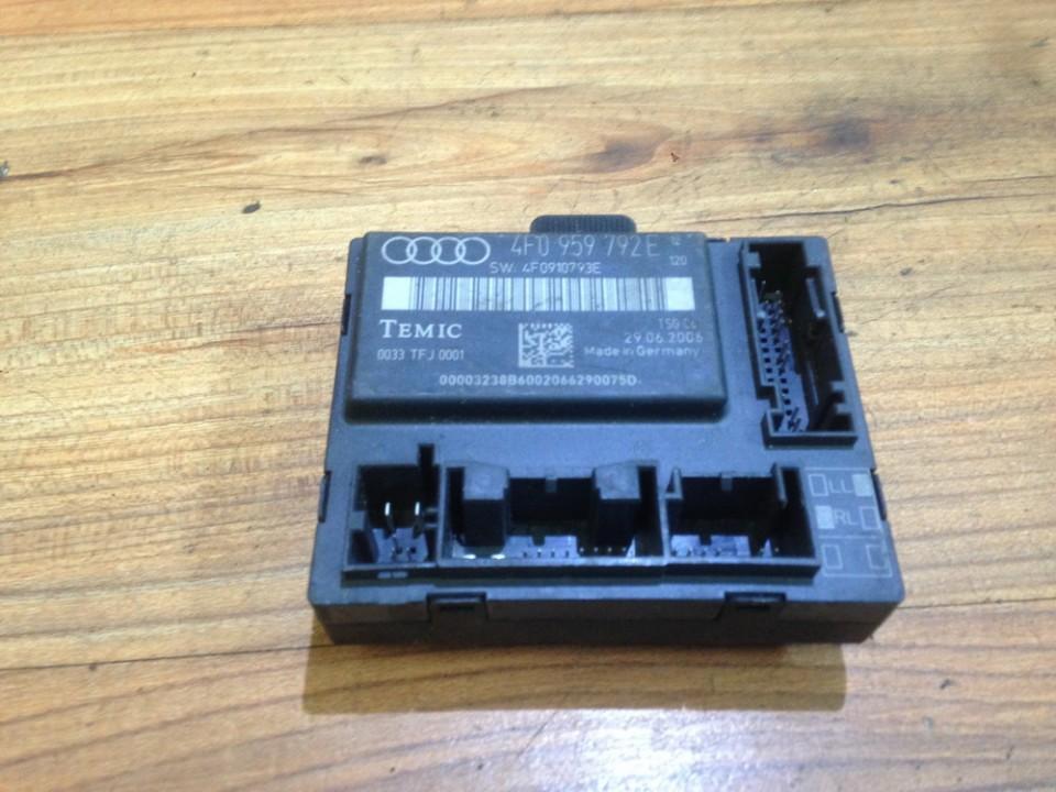 Door control relay Audi A6 2008    2.0 4f0959792e