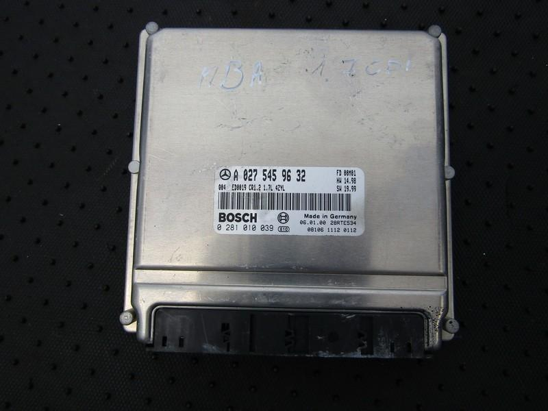 ECU Engine Computer  Mercedes-Benz  A-CLASS, W168, 1997.07 - 2001.06