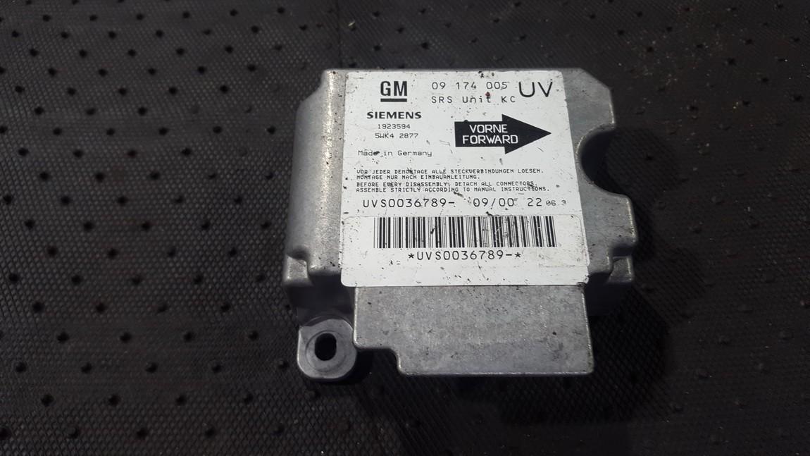 Airbag crash sensors module Opel Zafira 2000    2.0 09174005