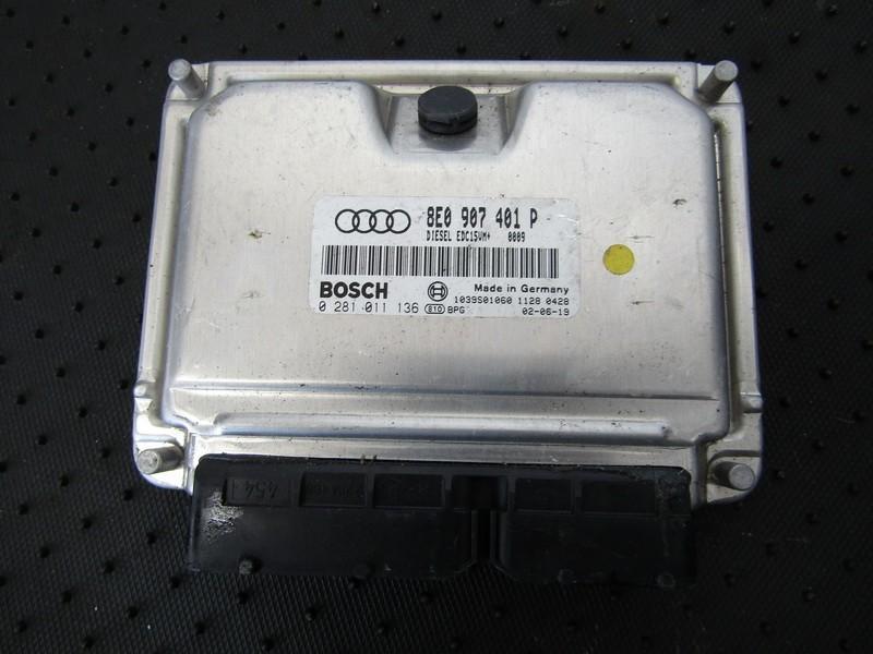 ECU Engine Computer  Audi A6 1999    2.5 8E0907401P
