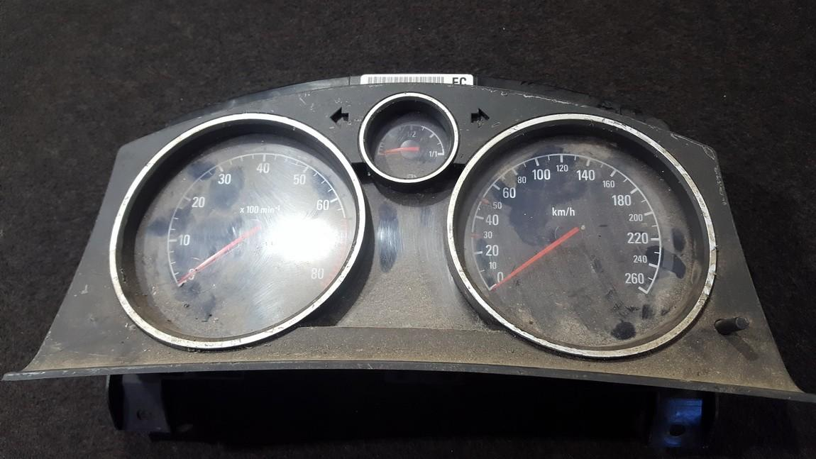 Speedometers - Cockpit - Speedo Clocks Instrument 13239722 SW6.607 Opel ZAFIRA 2002 2.2