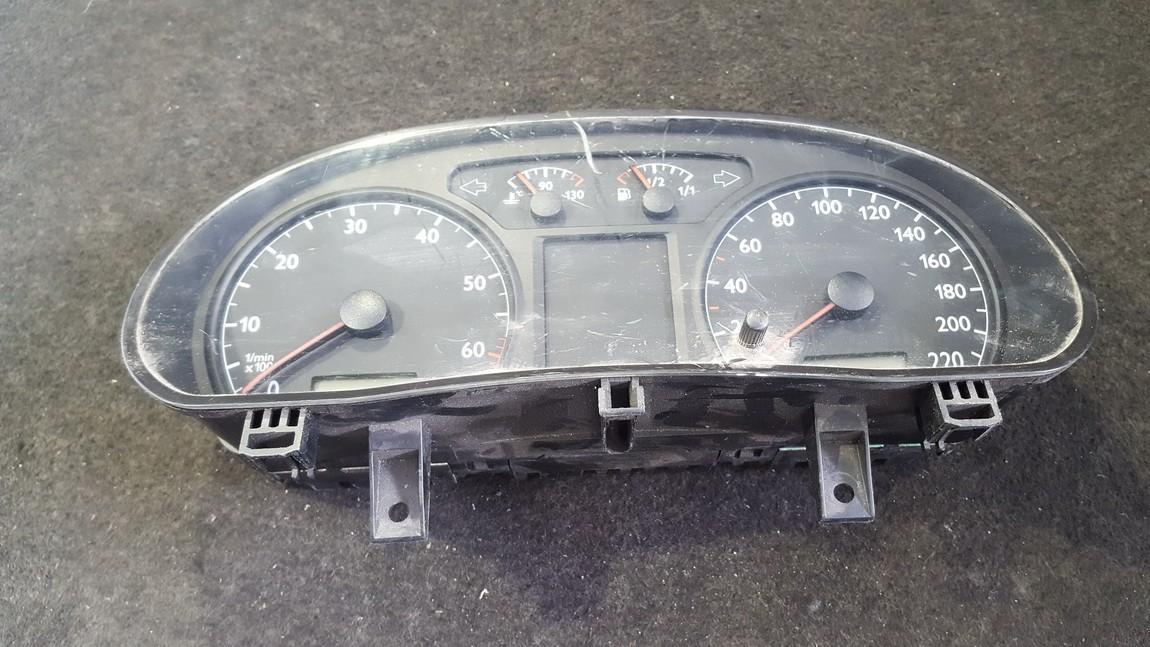 Spidometras - prietaisu skydelis 6Q0920800P 110.080.124/023 Volkswagen POLO 2006 1.2