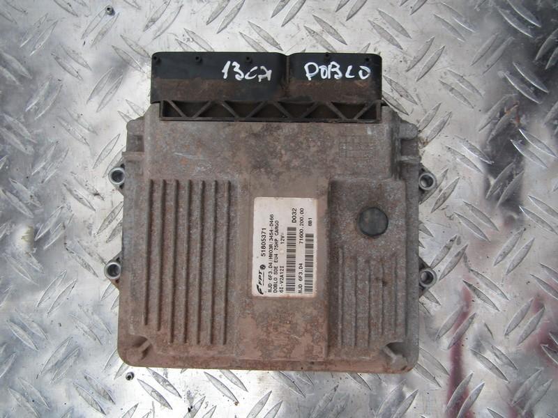 Variklio kompiuteris 51805371 6i-v2a12i,mjd 6f3.d4, 71600.200.00 Fiat DOBLO 2002 1.9