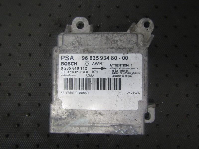Блок управления AIR BAG  966359348000 96 635 934 80-00, 0 285 010 112 Peugeot 207 2009 1.4