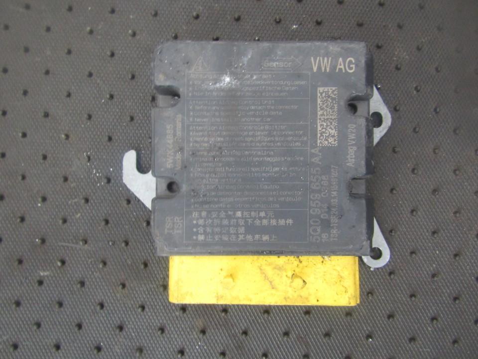 SRS AIRBAG KOMPIUTERIS - ORO PAGALVIU VALDYMO BLOKAS 5q0959655aa 160140386, 5wk44885 Volkswagen GOLF 2007 2.0