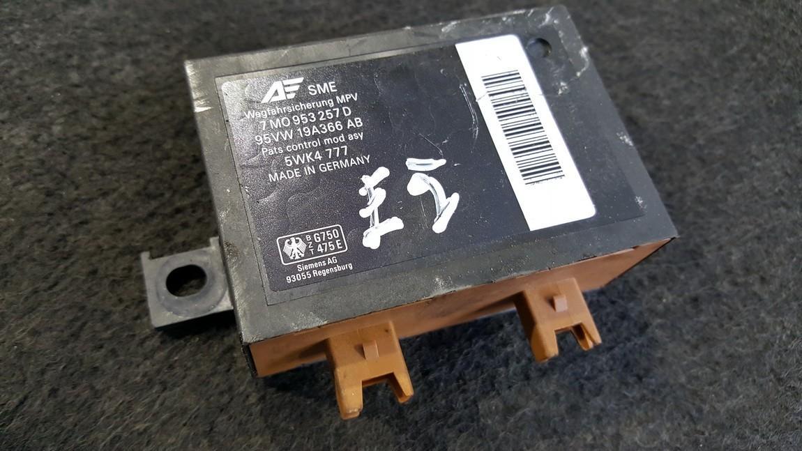 Kiti kompiuteriai 7M0953257D 95VW19A366AB, 5WK4777 Ford GALAXY 2004 2.8