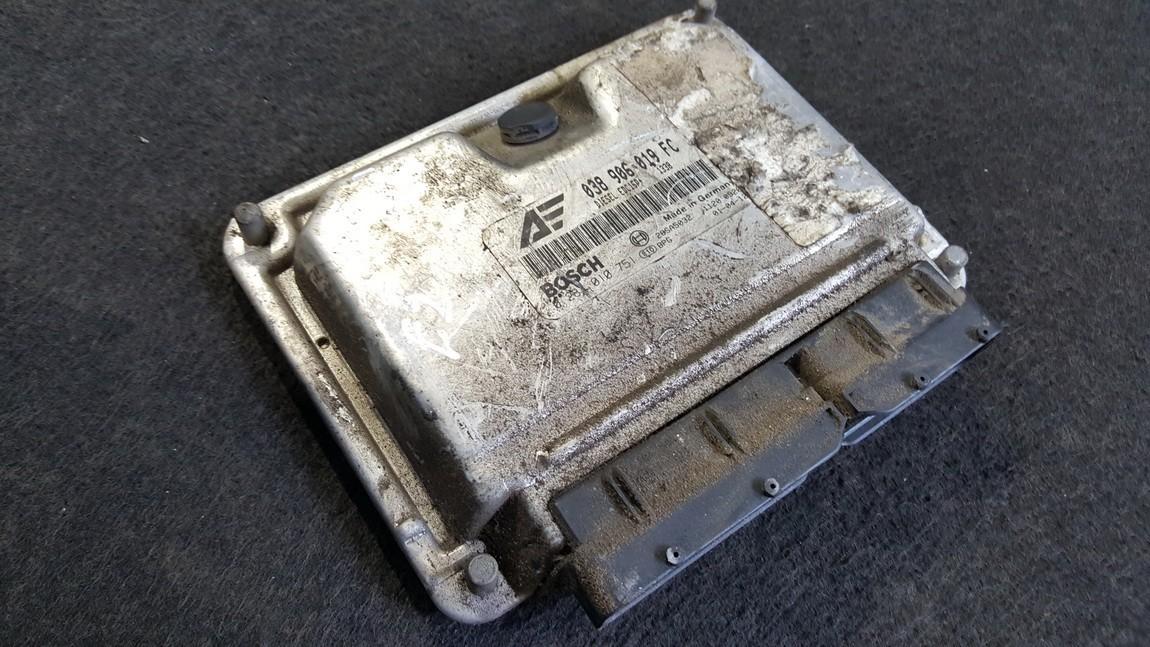 Variklio kompiuteris 038906019FC 0281010751, EDC15P, 28SA5032 Volkswagen SHARAN 2003 1.9