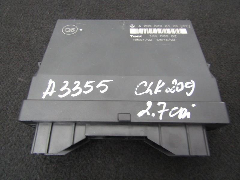 Блок комфорта a2098200326 376800gz Mercedes-Benz CLK-CLASS 2003 1.8
