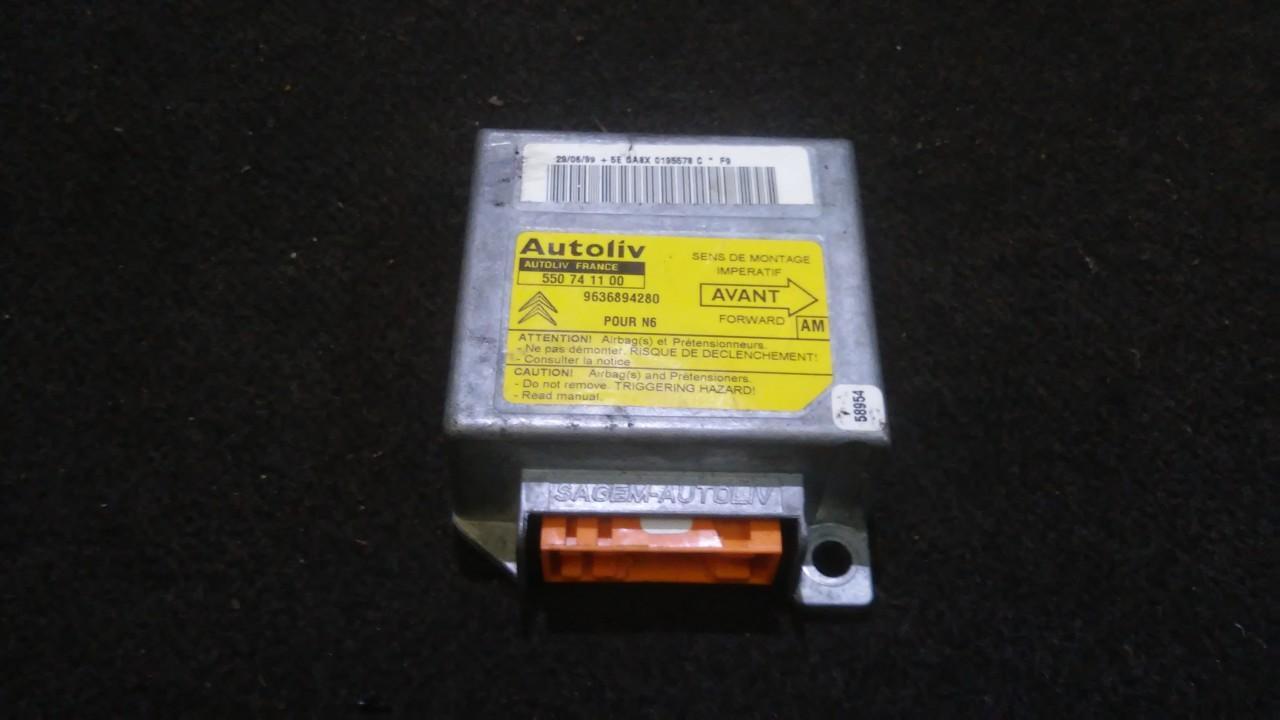 Airbag crash sensors module Citroen Xsara 1999    2.0 9636894280