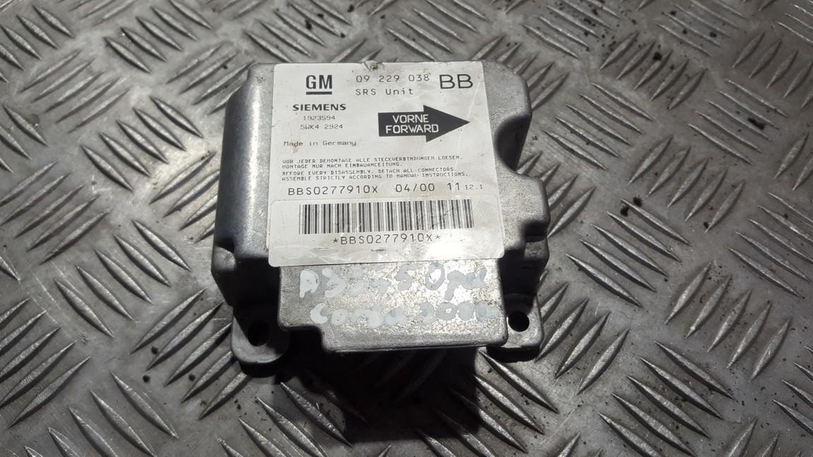 Блок управления AIR BAG  09229038BB 5WK42924 Opel CORSA 2008 1.3