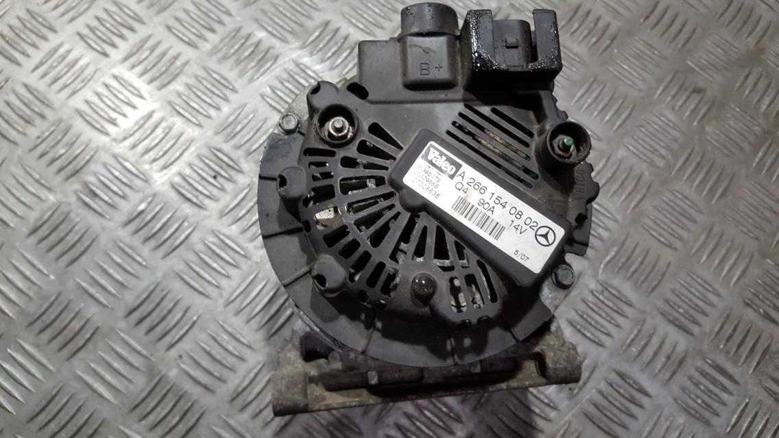 Generatorius A2661540802 SG9B079, 2542955B, 107008636 Mercedes-Benz A-CLASS 2000 1.6