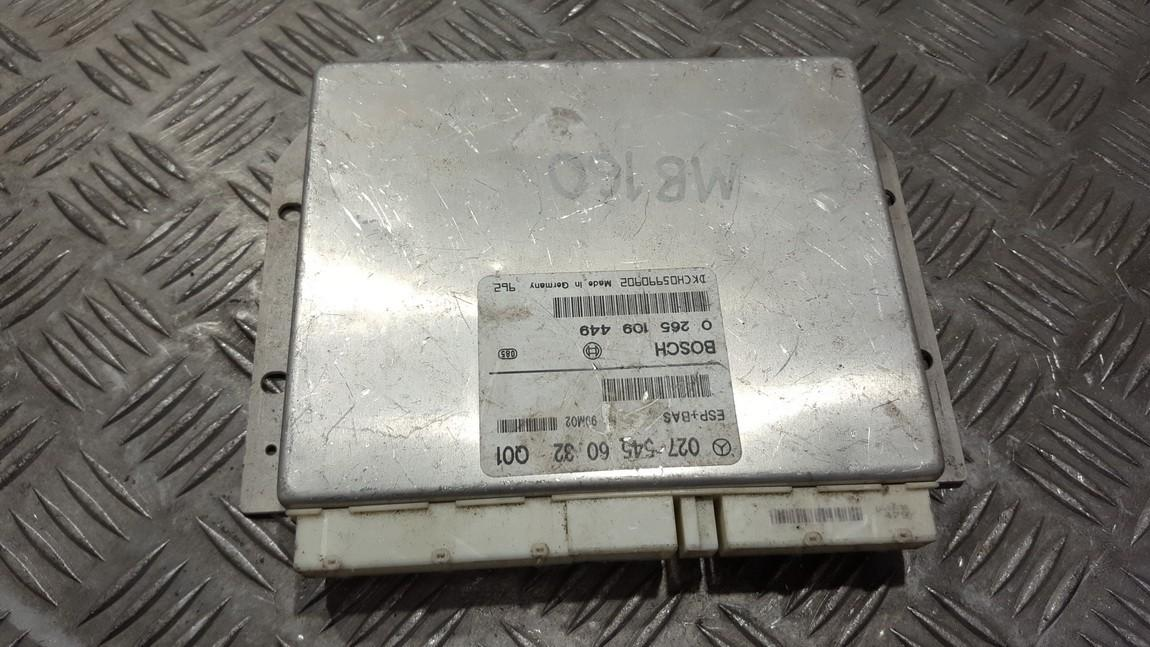 ESP PML BAS CONTROL UNIT ECU Mercedes-Benz A-CLASS 2000    0.0 0275456032