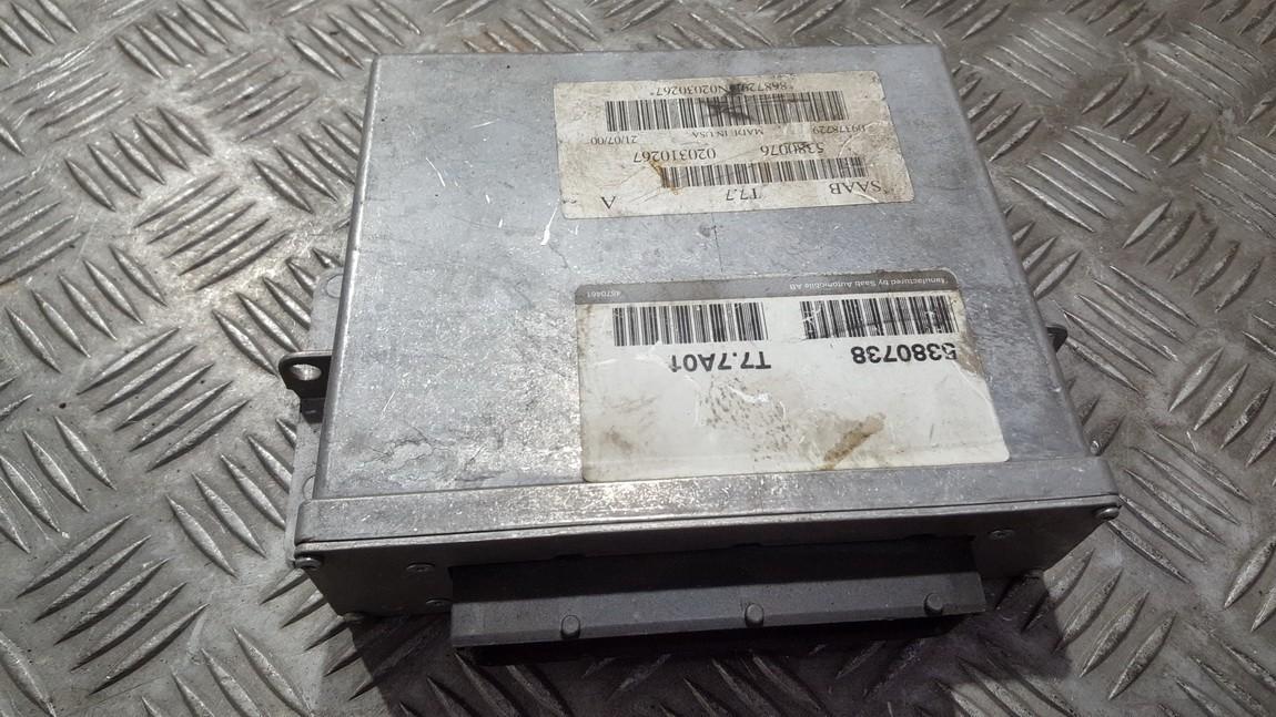 Блок управления двигателем 5380738 T7.7A01 SAAB 9-5 1998 2.0