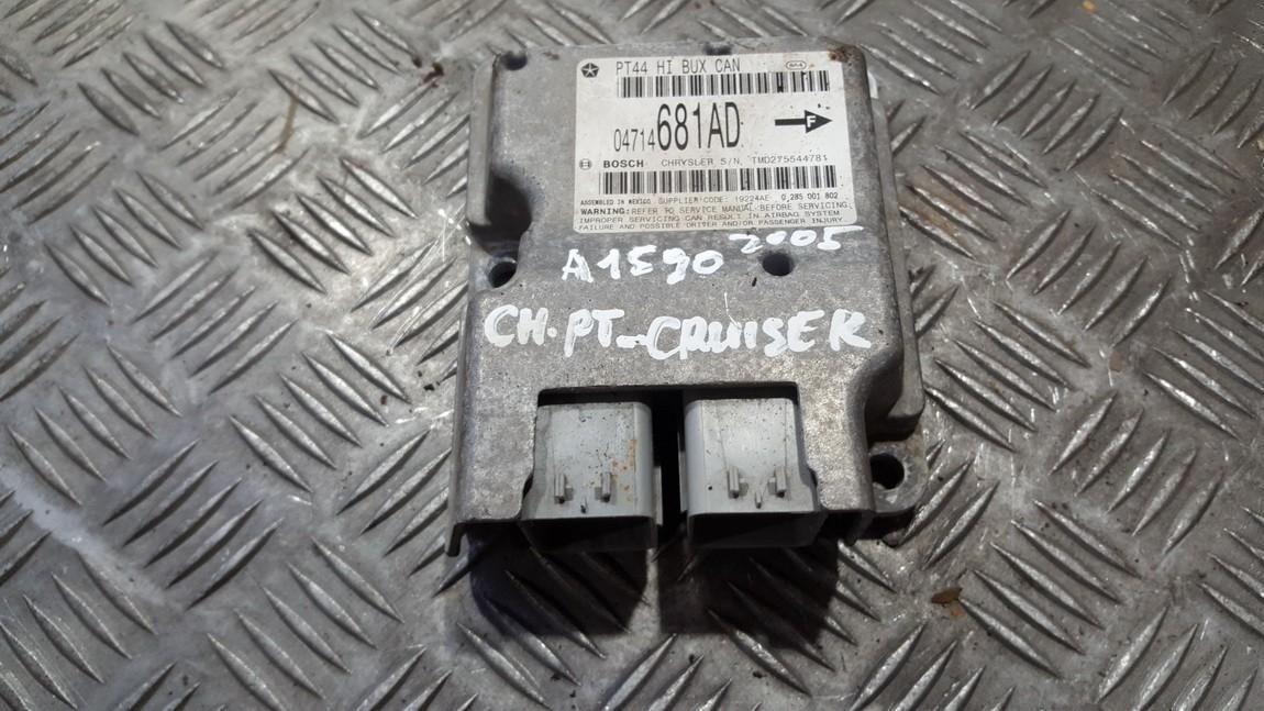 SRS AIRBAG KOMPIUTERIS - ORO PAGALVIU VALDYMO BLOKAS 04714681AD TMD275544781 Chrysler PT CRUISER 2005 2.4