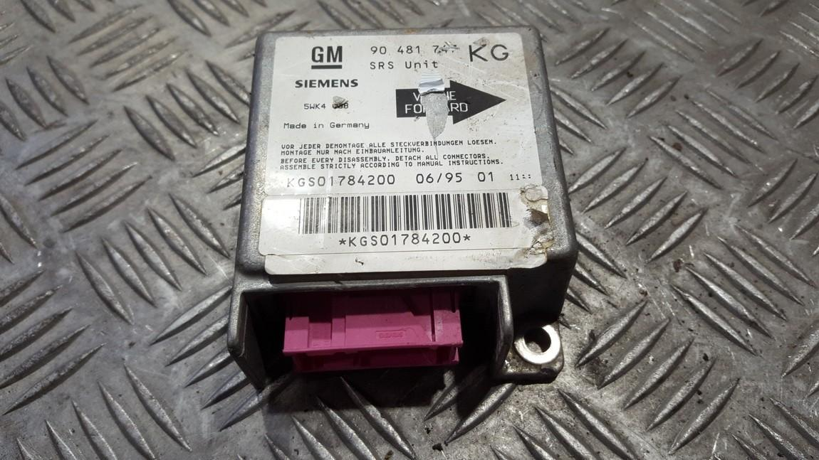 Блок управления AIR BAG  90481747 5WK4088 Opel CORSA 1998 1.0