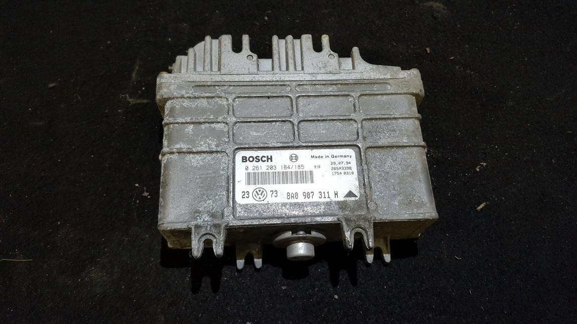 8A0907311H 0261203184 ECU Engine Computer Volkswagen Golf 1993 1.6L 22EUR EIS00265489
