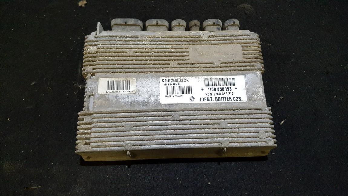 7700858198 S101200032A, H0M7700856312 ECU Engine Computer Renault Safrane 1993 3.0L 25EUR EIS00265494