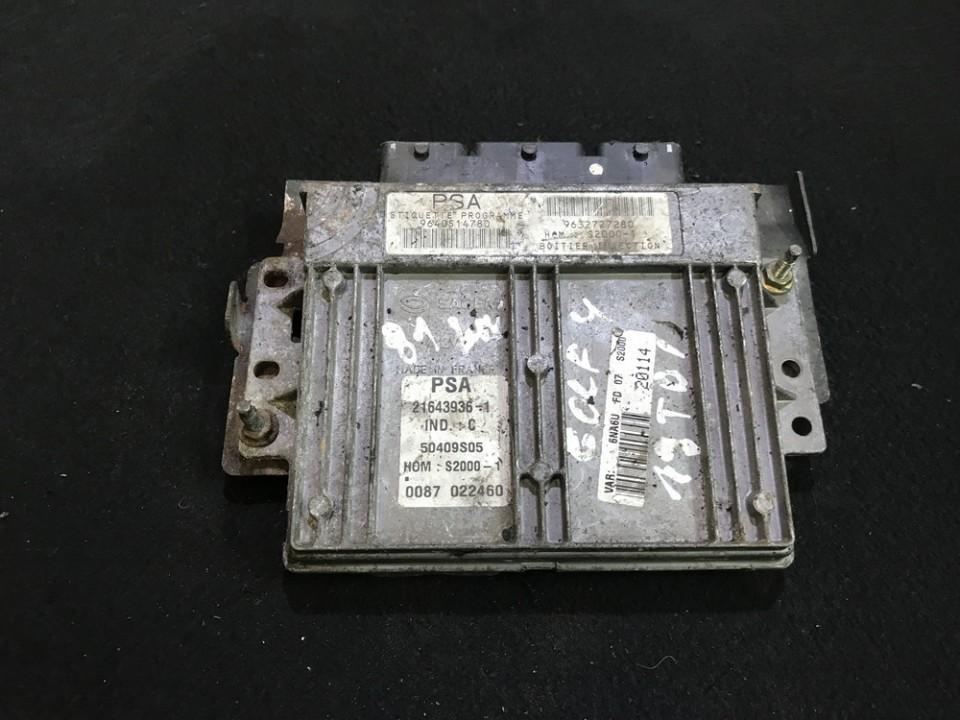 ECU Engine Computer (Engine Control Unit) 9632727280 9640514780, 21643936 Citroen XSARA PICASSO 2003 1.8