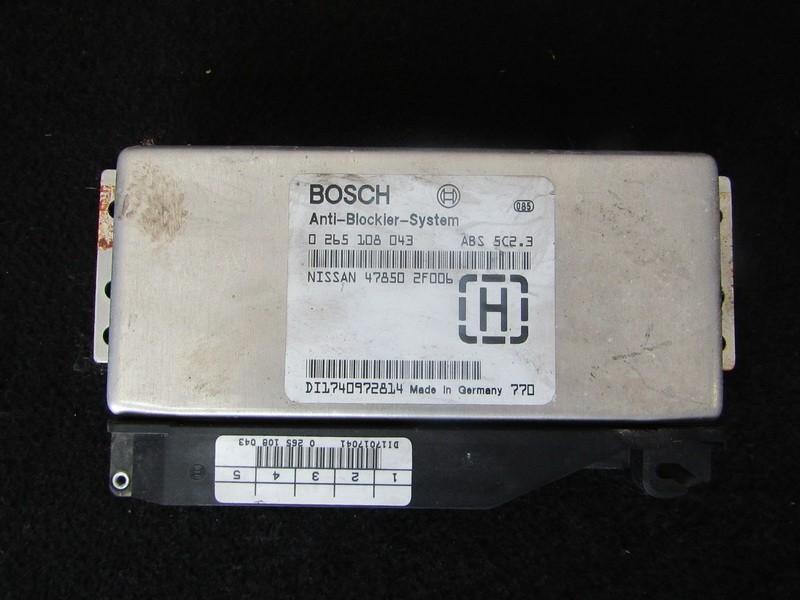 Блок управления АБС Nissan Primera 1999    2.0 0265108043