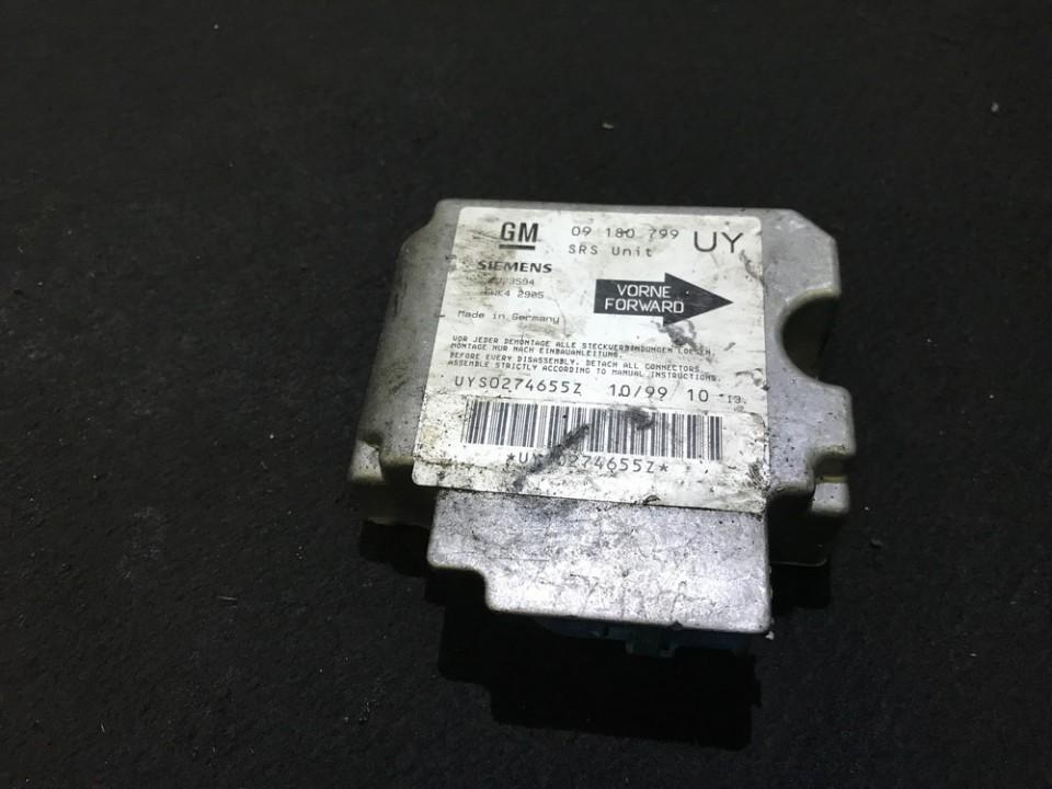 Блок управления AIR BAG  09180799 uy, 5wk42905 Opel ASTRA 2001 1.4