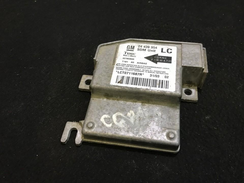 Airbag crash sensors module 24439954 327963935, lc Opel CORSA 2008 1.3