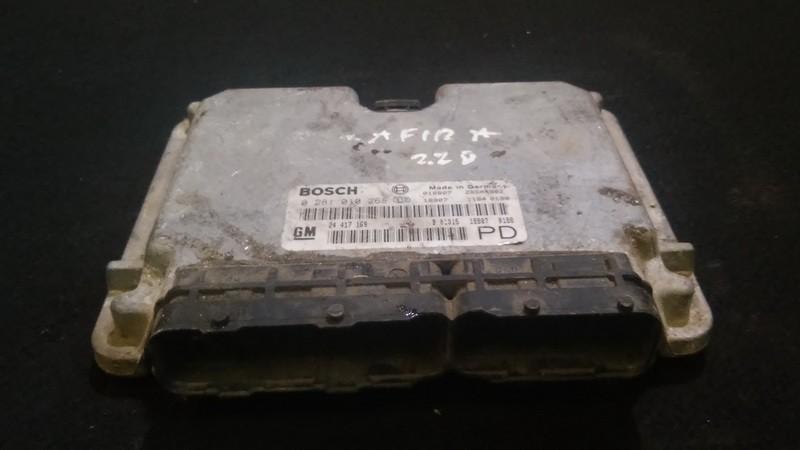 Variklio kompiuteris 0281010268 24417169,b01015188070188 Opel ZAFIRA 2000 1.8