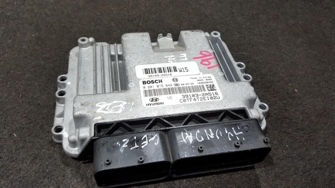 0281015642 39103-2A516, 391032A516, 1039S28458 ECU Engine Computer Hyundai Getz 2005 1.5L 200EUR EIS00279813