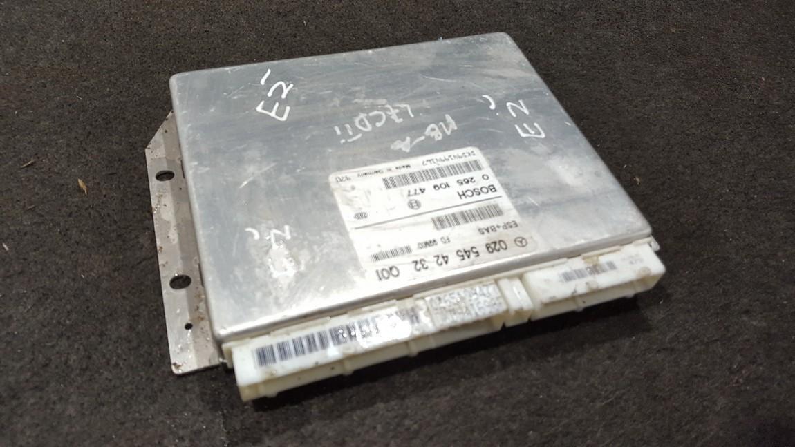 0295454232 0265109477 ESP PML BAS CONTROL UNIT ECU Mercedes-Benz A-CLASS 2000 1.7L 20EUR EIS00279815