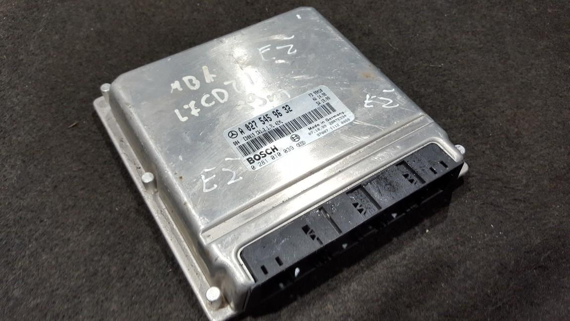 A0275459632 0281010039, 28RTE534 ECU Engine Computer Mercedes-Benz A-CLASS 1999 1.7L 30EUR EIS00279816