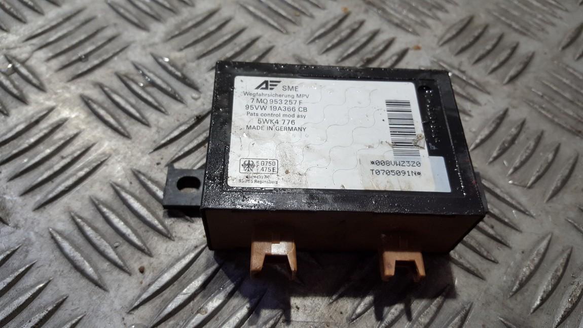 Imobilaizerio kompiuteris 7M0953257F 5WK4776, 95VW19A366CB Volkswagen SHARAN 2000 1.9