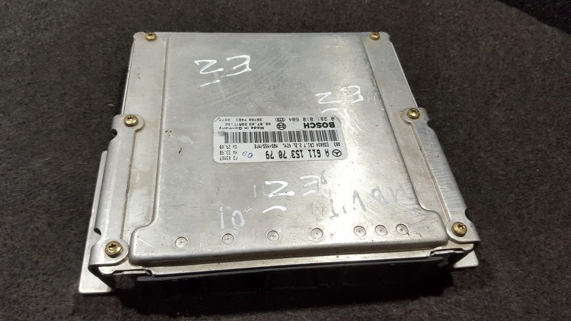 ECU Engine Computer  Mercedes-Benz Vito 2001    2.2 A6111537079
