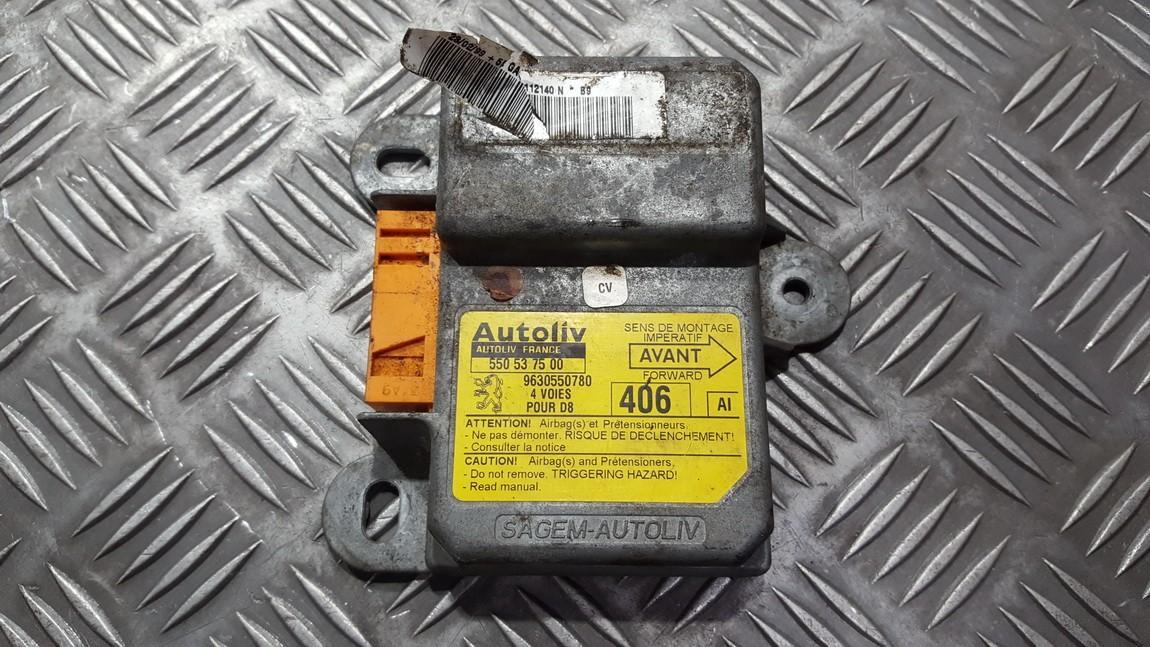 Airbag crash sensors module 9630550780 550537500 Peugeot 406 1996 1.9