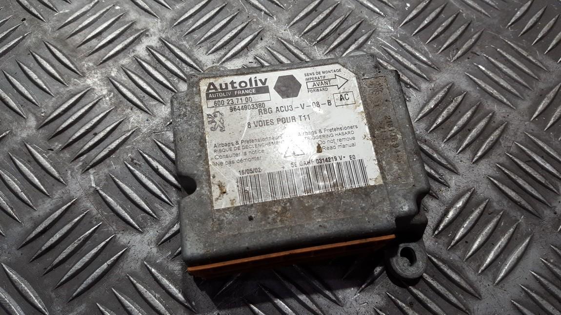 Airbag crash sensors module 9644903380 600237100 Peugeot 206 1998 1.4