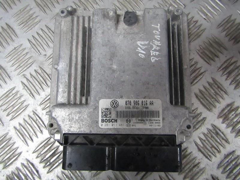 Variklio kompiuteris 070906016aa 0281011481 Volkswagen TOUAREG 2003 2.5
