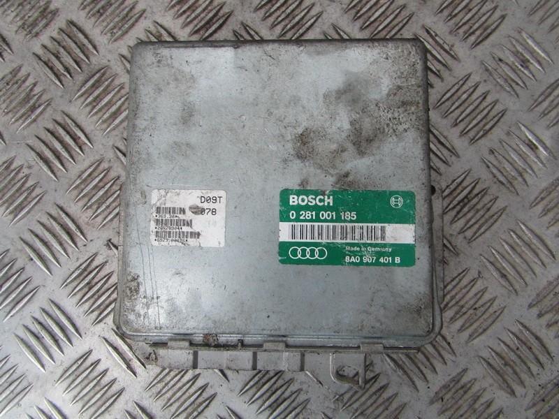 Блок управления двигателем 8a0907401b 0281001185 Audi 80 1992 2.0