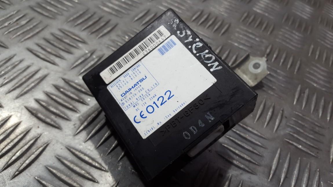 Kiti kompiuteriai 89741B1030 89741-B1030, 89740-B1010, 89740B1010 Daihatsu SIRION 2001 1.3