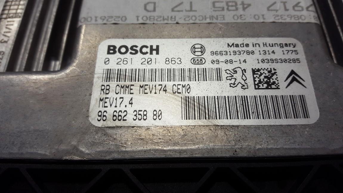 Блок управления двигателем Peugeot 308 2010    1.6 9666235880