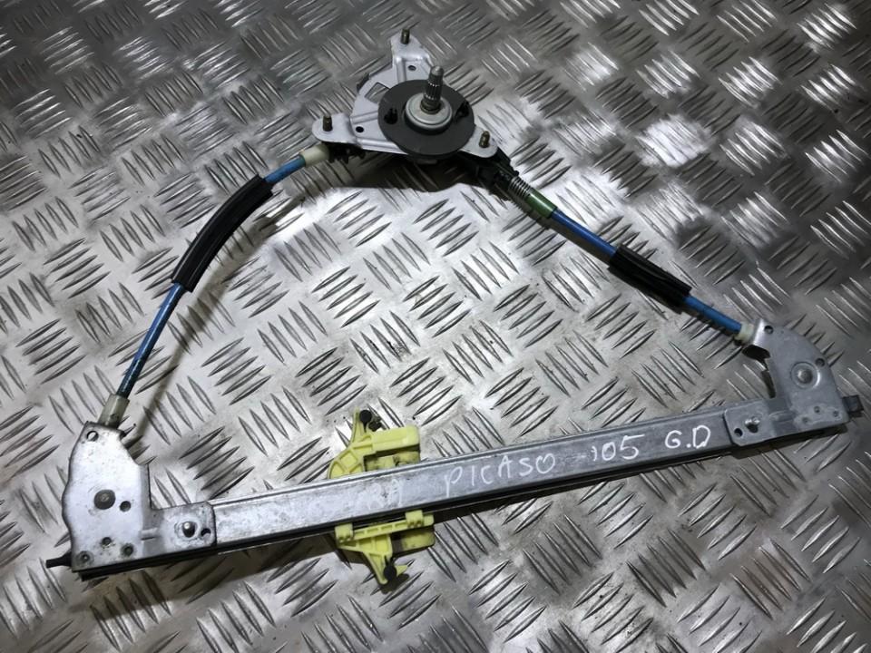 Door winder mechanism (Window Regulator) rear right side 51894F USED Citroen XSARA PICASSO 2003 1.8