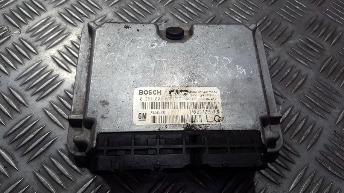 ECU Engine Computer (Engine Control Unit) 0281001636 90565941 Opel OMEGA 1996 2.0