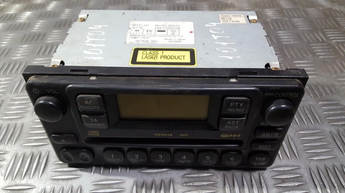 Automagnetola 8612028470 86120-28470, CQ-TS0370A, CQTS0370A Toyota PREVIA 2002 2.4