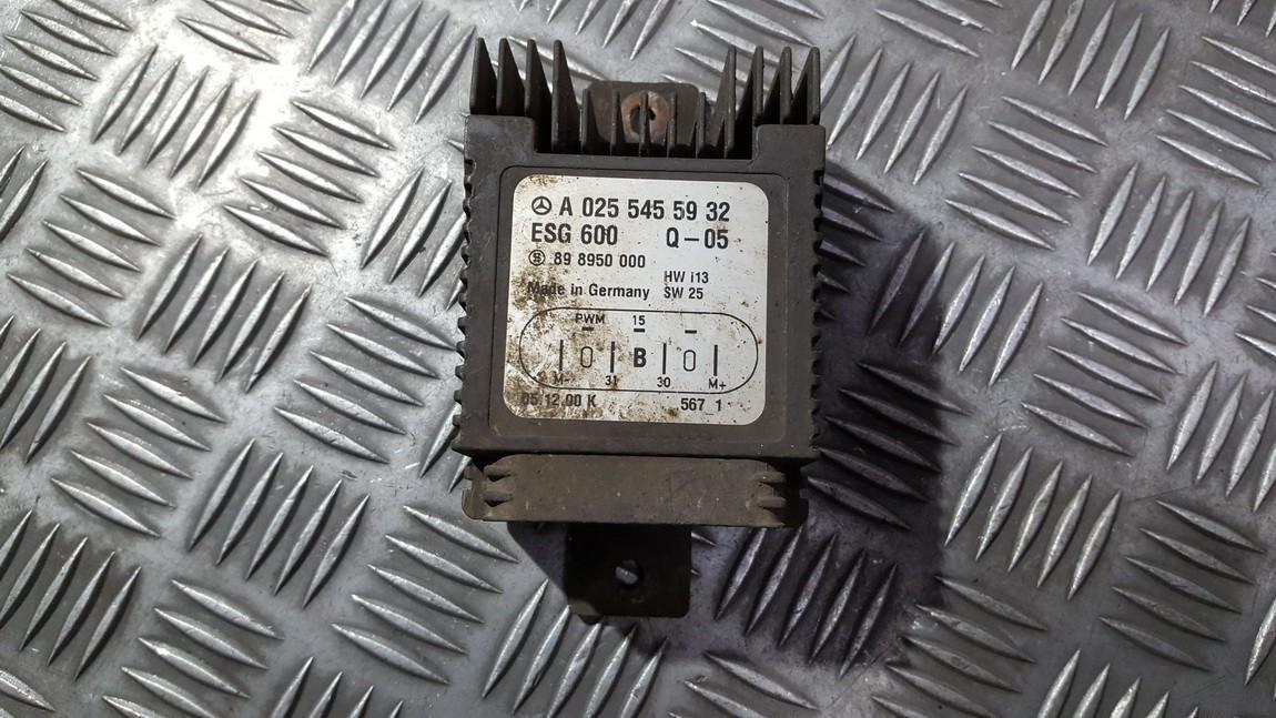 Blower Fan Regulator (Fan Control Switch Relay Module)  Mercedes-Benz C-CLASS 1999    2.0 A0255455932