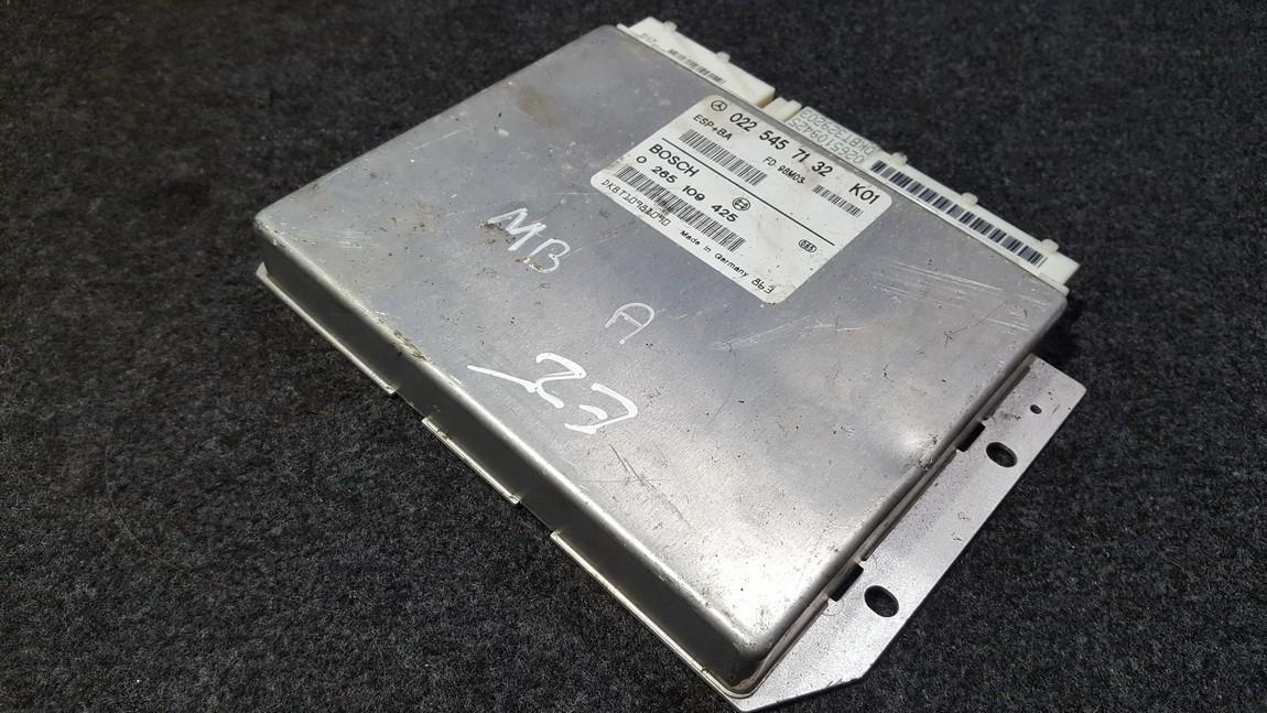 Блок управления ESP Mercedes-Benz A-CLASS 2002    1.6 0265109425