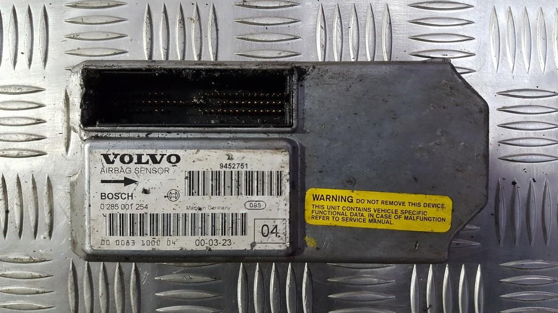 Блок управления AIR BAG  0285001254 9452751 Volvo S60 2001 2.4