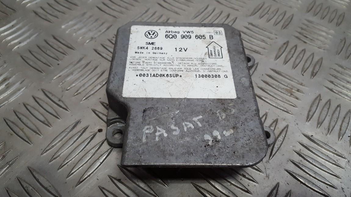 SRS AIRBAG KOMPIUTERIS - ORO PAGALVIU VALDYMO BLOKAS 6q0909605b 5wk42869 Volkswagen PASSAT 1997 1.9