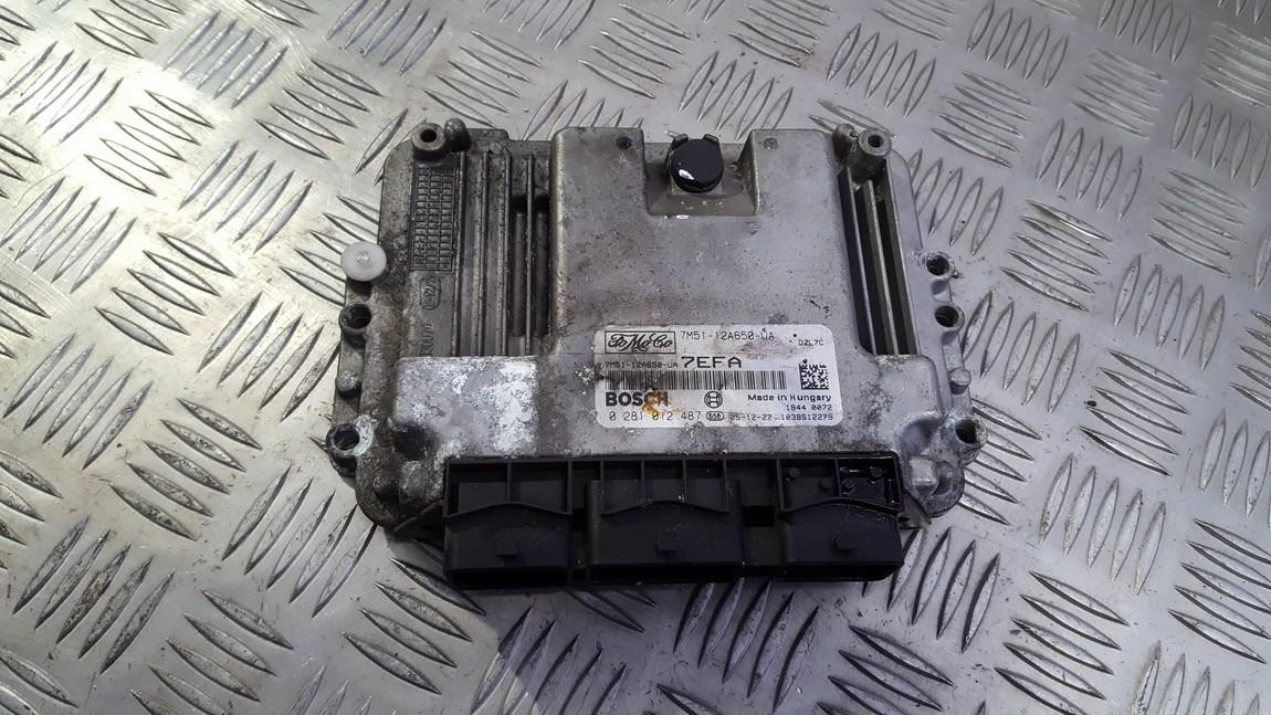 ECU Engine Computer (Engine Control Unit) 7m5112a650ua 7m51-12a650-ua 0281012487 Ford FOCUS 1999 1.8