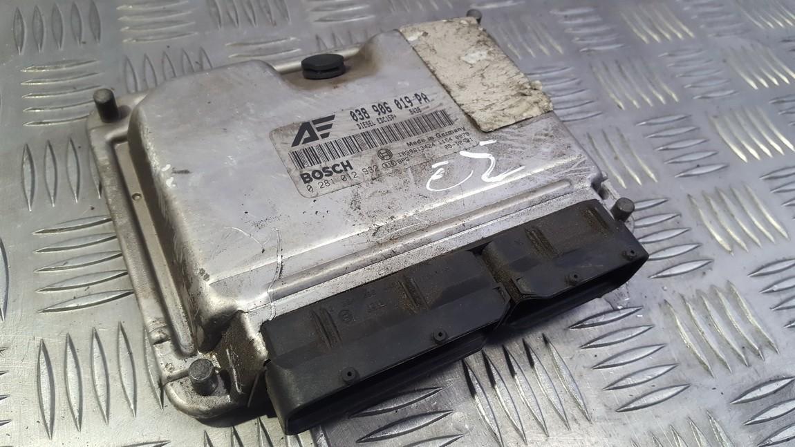 Блок управления двигателем 038906019PA 0281012932 Volkswagen SHARAN 2003 1.9