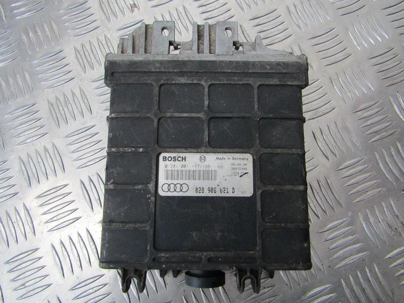 Variklio kompiuteris 0281001197 0281001198, 028906021D Audi 80 1988 1.8